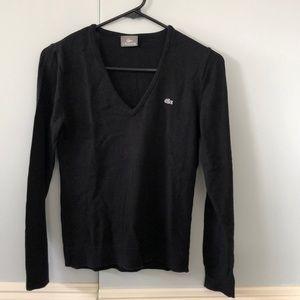 Black women's Lacoste sweater sz 42